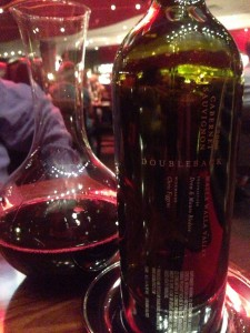 Gordon Ramsay Steak - wine Doubleback