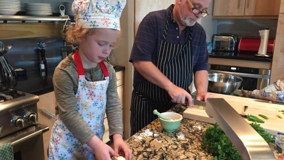Chef JJ in the kitchen.