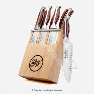 A good knife set is something you can pass on to your children. Better yet- pass on the joy of cooking also.
