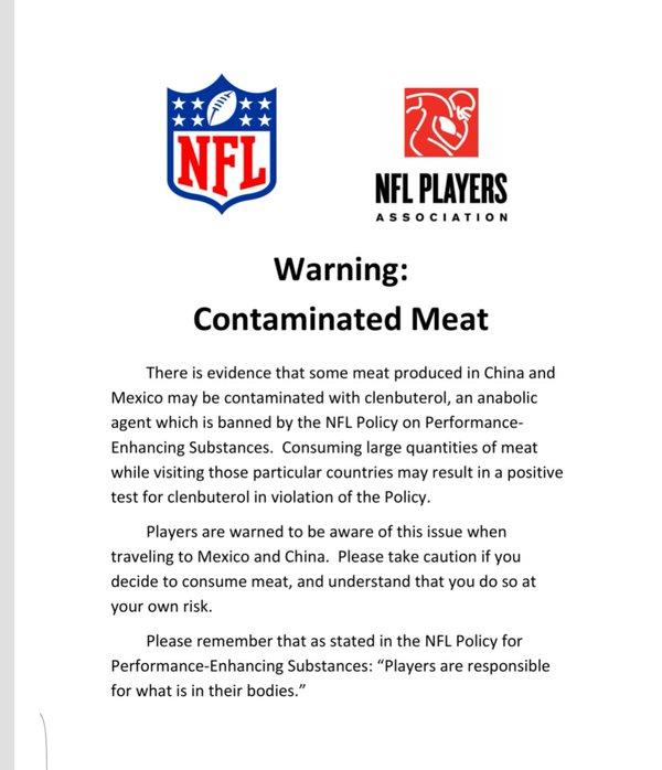 NFL Beef Warning