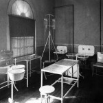 The operating room at the World's Fair where McKinley was quickly operated on following the gunshot